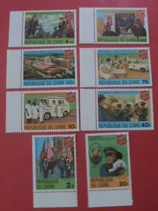 ZAIRE STAMP: 1980-SC#960-7-CENTENARY OF SALVATION ARMY SET OF 8-MNH STAMPS.