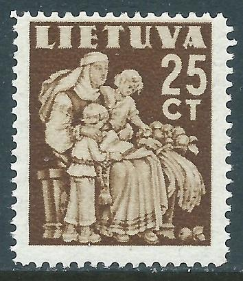 Lithuania, Sc #320, 25c MH