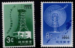 RYUKYU Scott 122-123 MNH** Antenna stamp set 1964