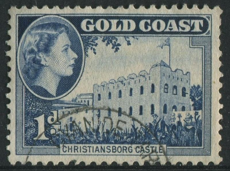 GOLD COAST 1954 - 1d USED