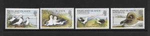 BIRDS - FALKLAND ISLANDS DEPENDENCIES #1L88-91  MNH