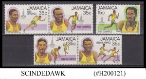 JAMAICA - 1980 SUMMER OLYMPIC GAMES - 5V MNH