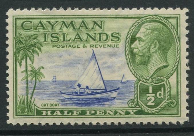 Cayman Islands -Scott 86 - KGV Definitive Issue -1935- MLH -Single 1/2d Stamp