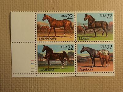 Horses Set of 4 x 22 Cent US Postage Stamps NEW Scot 2155-58