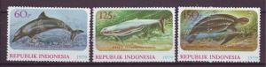 J21093 Jlstamps 1979 indonesia mh set #1064-6 marine life
