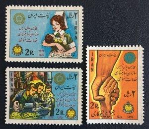 Middle East,worldwide,p,1976  MNH ** Social Service Organization , Shah,pars