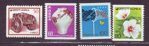 J23369 JLstamps 1990-6 south korea set mlh #1594e-h coils