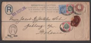 *Great Britain Registered Cover, HG# 31f, SC# 131 & 138, 1905
