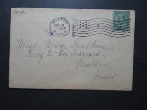 Canada SC# 89 on 1911 Paquebot Cover / Boston CDS / Back Flap Tear - Z10575