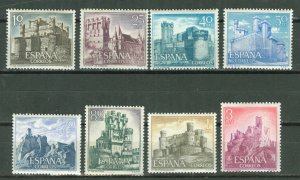Spain # 1365-72 Castles  1966  (8)  Mint NH