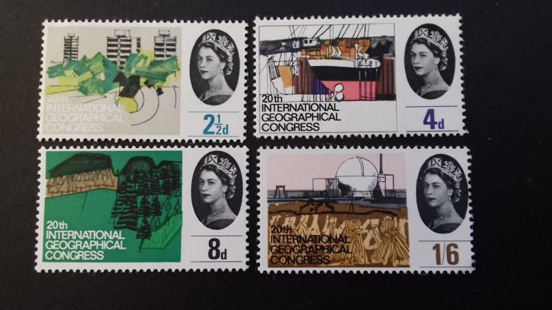 Great Britain 1964 The 20th Anniversary International Geographical Congress Mint