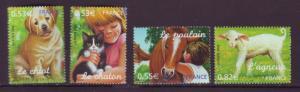 J20487 Jlstamps 2006 france set mnh #3202-5 animals