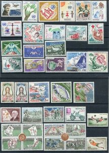 D111242 Monaco MNH Complete Year 1963 38 values Sc. 528-564,C63