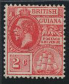 British Guiana SG 260a Mint Hinged  (Sc# 179 see details) Scarlet