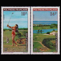 FR.POLYNESIA 1974 - Scott# 275-6 Golf Course Set of 2 NH