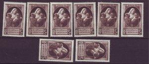 J24619 JLstamps 8 1940 france set of 1 mh #b103 nurse w/injured child