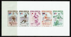 Dominican Republic 1957 Olympics S/S Imperf / Hinge Rems - S7581