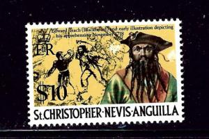 St Kitts-Nevis 222A MNH 1974 Pirates