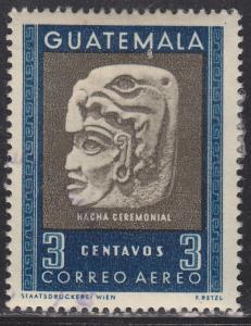 Guatemala C182 Ceremonial Stone Axe 1953
