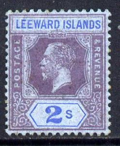 Leeward Islands 1912-22 KG5 MCA 2s purple & blue on b...