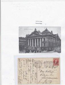 Belgium brussels 1910 postcard to england Ref 9652