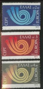 GREECE Scott 1090-1092 MNH** Europa 1973 set