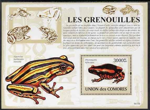 Comoro Islands MNH S/S Frogs Amphibians 2009