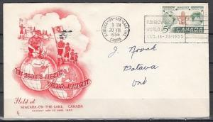 Canada, Scott cat. 356. 8th Scout Jamboree, Red Cachet on a First day cover. ^