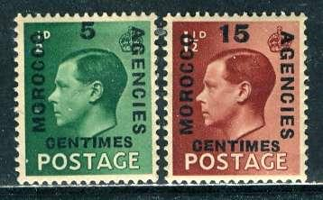 G. B., Morocco French 1936: Sc. # 437-438: */MH Cpl. Set