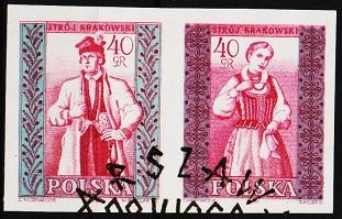 Poland. 1960 40g(Pair) Imperf. S.G.1150/1151 Fine Used
