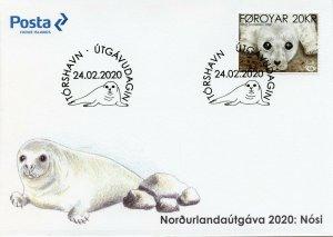 Faroe Islands Faroes Wild Animals Stamps 2020 FDC Seal Pup Norden Seals 1v Set