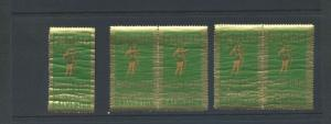 5 VINTAGE 1935 GALVESTON MARDI GRAS 'FROLIC' IN TEXAS  POSTER STAMPS  (L872)