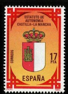 SPAIN SG2767 1984 AUTONOMY OF CASTILLA-LA MANCHA MNH