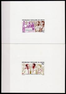 Benin 1976 Sc#352/353 SCOUTS JAMBOREE NIGERIA Set 2 DELUXE Souvenir Sheets MNH