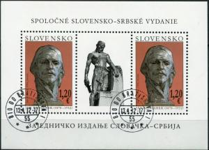 Slovakia. 2012.  Ján Koniarek, 1878-1952 (CTO) Souvenir Sheet
