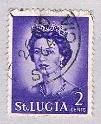 St Lucia 183 Used QE II (BP2212)