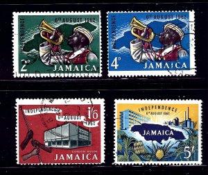 Jamaica 181-84 Used 1962 Independence