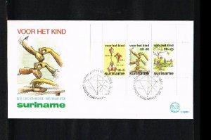 1984 - Rep. Surinam FDC E086B (block) - Childhood - Games - Child series [LN005]