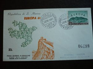 Europa 1961 - San Marino - First Day Cover