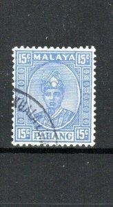 Malaysia - Pahang 1941 15c Sultan Sir Abu Bakar FU CDS