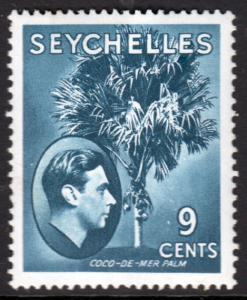 Seychelles KGVI 1938 9c Grey-Blue SG138a Mint Hinged