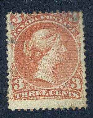 Canada #25a Used Fine Cat$475