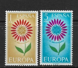 SPAIN - EUROPA 1964 - SCOTT 1262 TO 1263 - MNH