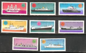 Poland Scott 1780-1787 MNH** 1971 ship set