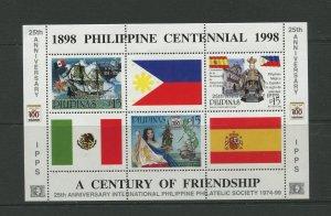 STAMP STATION PERTH Philippines #2629 Anniv. IPPS Souvenir Sheet MNH CV$6.00