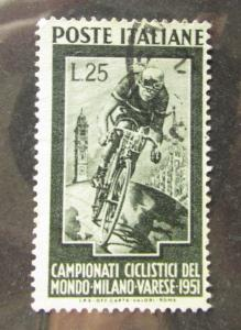 1951 Italy SC #584 World Cycling Milano  used stamp