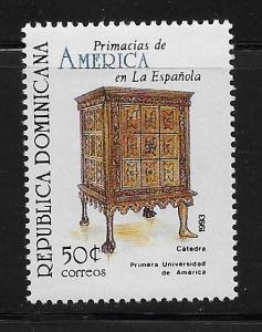 DOMINICAN REPUBLIC  STAMP  MNH #16DIC147