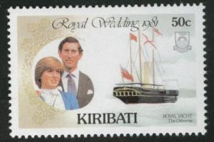 Kiribati Scott 375 MNH** 1981 royal wedding stamp