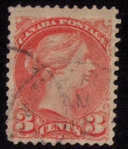 CANADA Sc 37 ORANGE RED Very Fine