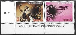 [E13] Albania 2009 , 65 Anniversary of Liberation, MiNr.3309-10,GimNr. 3465-66,